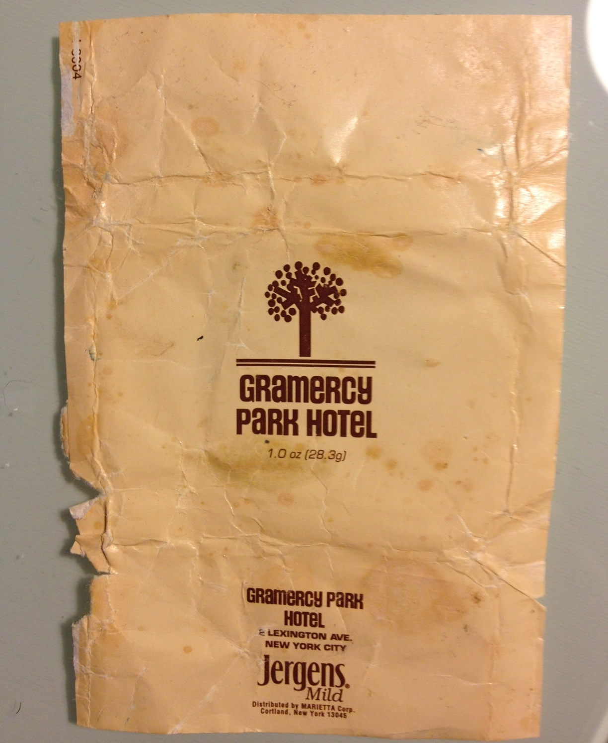 SOAP WRAPPER, GRAMERCY PARK HOTEL (1997)