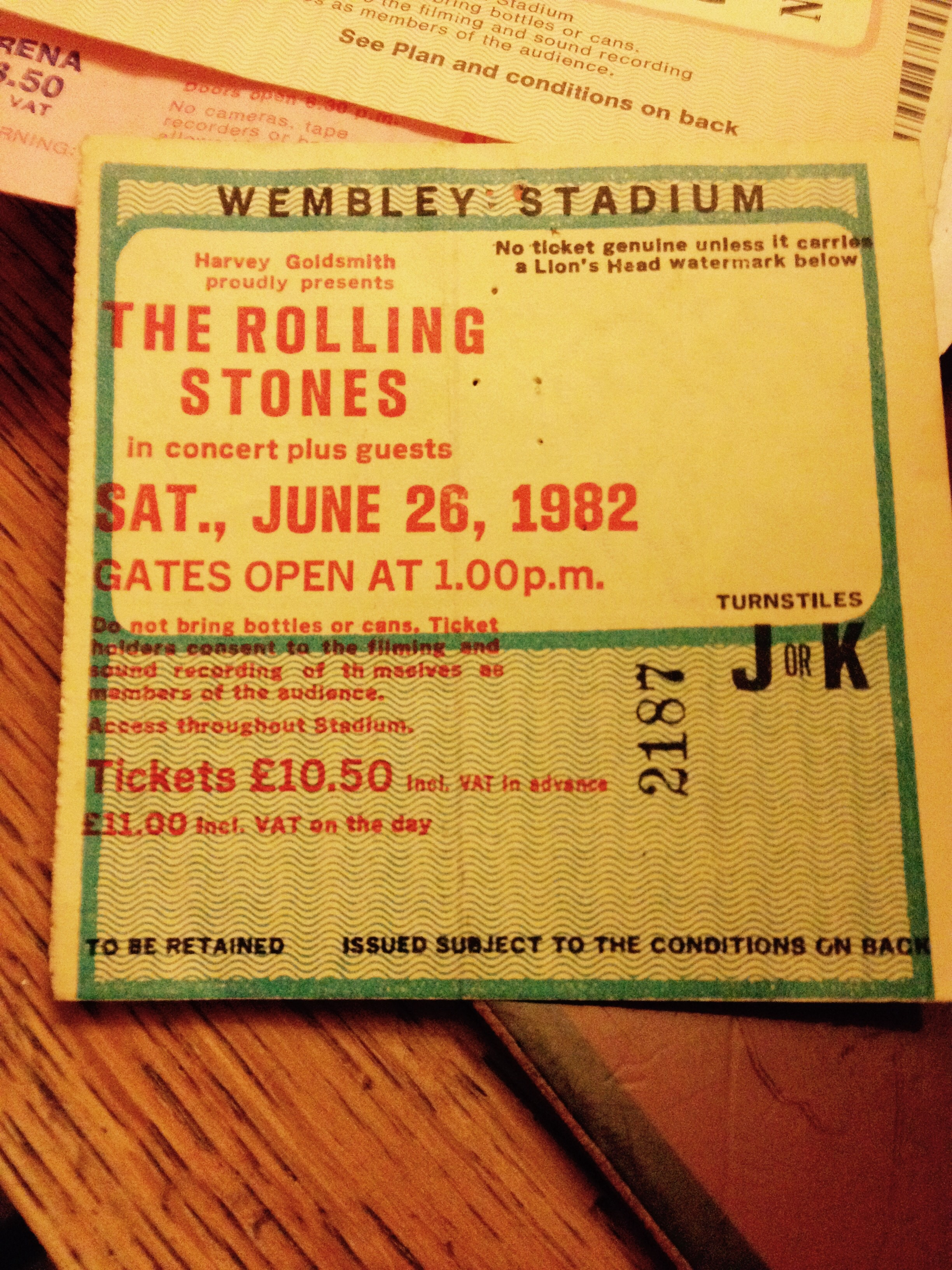 Tickets on the day seem to belong to a bygone age.